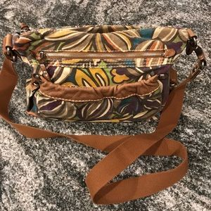Fossil Abstract Floral Crossbody Bag